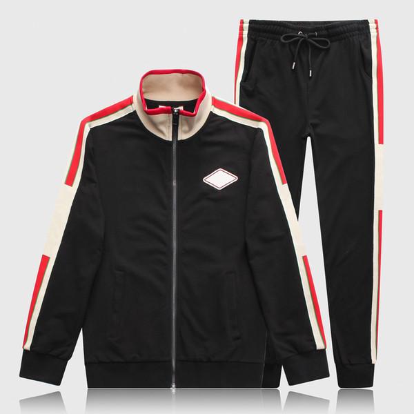 2019 Mens Designer Tracksuits Brand Jacket + Pant Set Luxury Casual Trajes de primavera Kits de alta calidad Envío de la gota M-3XL CE98264