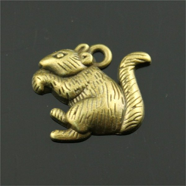150pcs Animal Squirrel Pendant Charms For Jewelry Making Antique Bronze Antique Silver Squirrel Charms Charm Squirrel 18x19mm