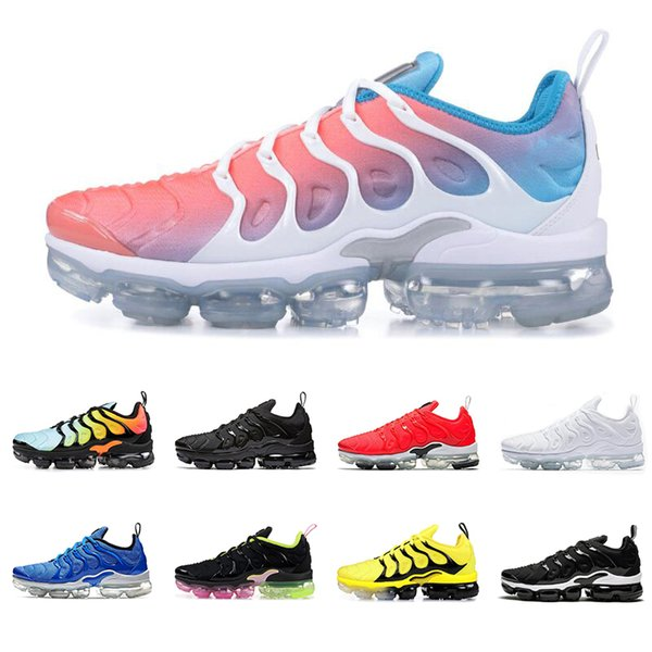 2019 TN plus running shoes men women Lava Glow GAME ROYAL cool grey PINK RISE BUMBLEBEE mens trainers breathable sports sneakers
