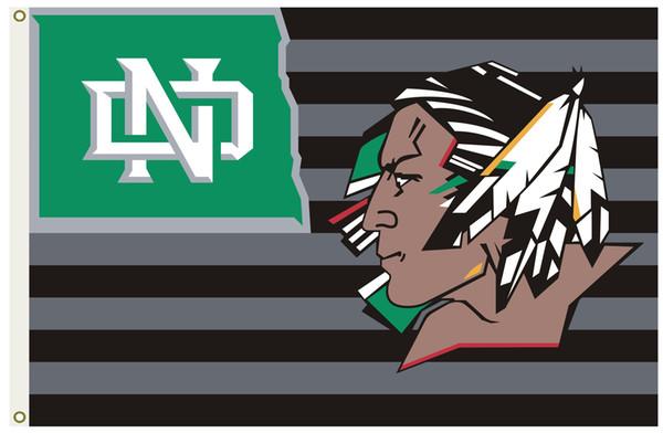 Dakota du Nord Fighting Sioux grande équipe extérieure Drapeau Football Hockey USA homme des cavernes