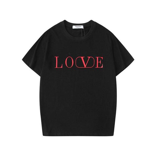 19SS verano Europa 2019 Amor letra de la impresión camiseta de los hombres Moda Hombres Mujeres camiseta para hombre del algodón de la ropa Tee Hombre Tops HL960