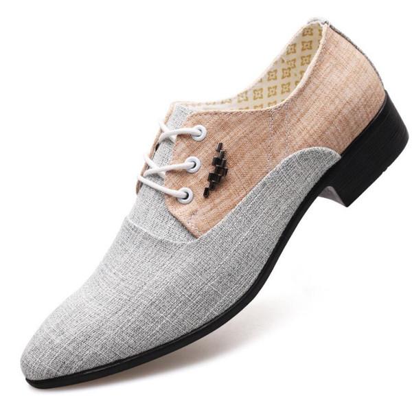 Primavera Mens appartamenti italiani vestito Scarpe zapatos hombre vestir Uomini scarpe da sposa Scarpe da ginnastica in pelle di tela traspirante