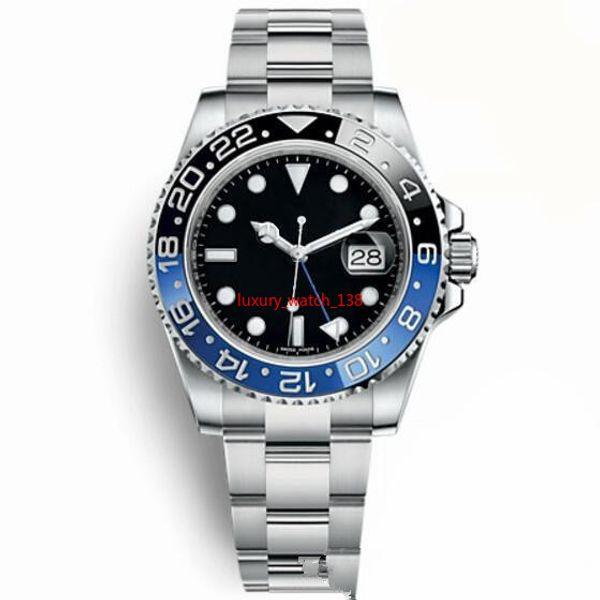 Top Luxury Master Ceramic Bezel Mens Watch Glidelock Clasp Automatic Blue Black Watch Sports Crown Wristwatch Orologio Reloj on sale FU2144