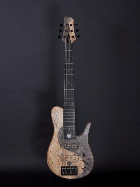 top popular Super Rare FOD Buckeye Burl Yin Yang Imperial 6 Elite Electric Bass Guitar Neck Thrugh Body, Ash Body, Maple Neck, Black Hardware 2021