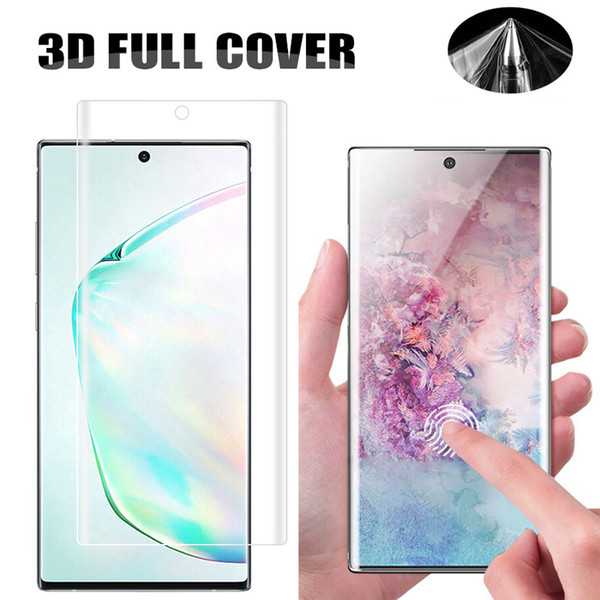 top popular Full Coverage Curved 3D Screen Protector PET Soft Film For iPhone 11 Pro XR XS MAX X 8 7 6 Samsung S7 Edge S8 S9 Plus S10 S10e Note 9 10 10+ 2020