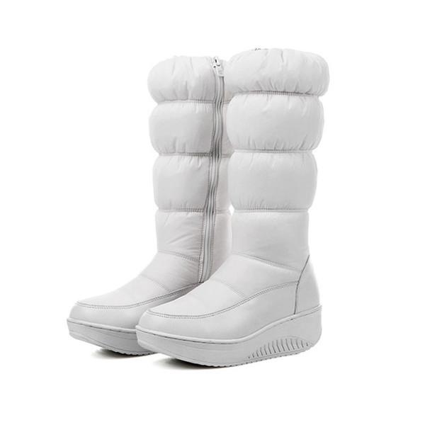 Shoes Winter Warm Women think Over-the-knee Zip Snow Boots Rount Toe Wedge heels platform Zipper boot Women's winter boots.HX-88