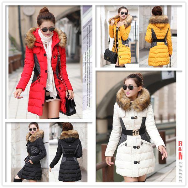 womens coats women winter jacket new brand winter jacket women coat parka woman and jackets, fur collar hood clothing big anorak l02
