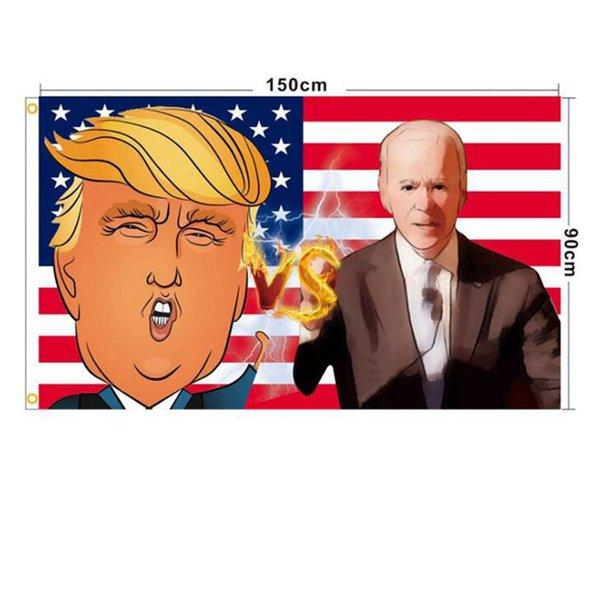 best selling 18 style Trump Flag 90*150cm Biden USA flags Keep America Great President Donald trump Election Banner flag Wholesale JJ407