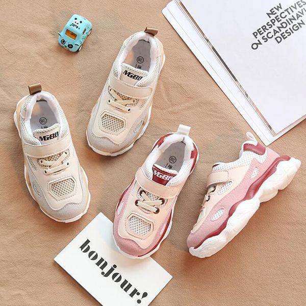 Nuevo otoño niños zapatos casuales transpirables 2 colores bebé niños niñas entrenadores zapatillas de deporte al aire libre zapatos de bebé