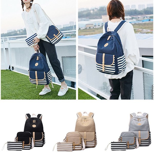 WENYUJH 3PCS/Set School Backpack Book Bags For Students Women Casual Rucksack Daypack Laptop Fashion Student Backpacks 2019