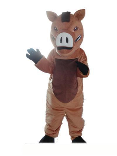 2019 High quality hot Good vision and good Ventilation a brown boar mascot costume with big nose for adult to wear