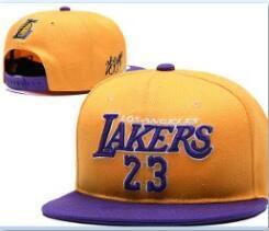 2019 Erkek Kadın Snapbacks Beyzbol Şapka Için Şapka snapback LA Düz ağız Kap strapback Nakış Lakers 23 James LAL Kap Gelgit Marka şapka 06
