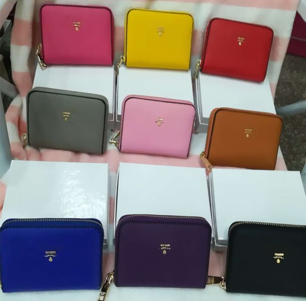 Mini Wallets Women's Small Card Holder Zipper Purse PU Lady Ladies Fashion Casual Coin Bags WITH BOX Free shipping P327