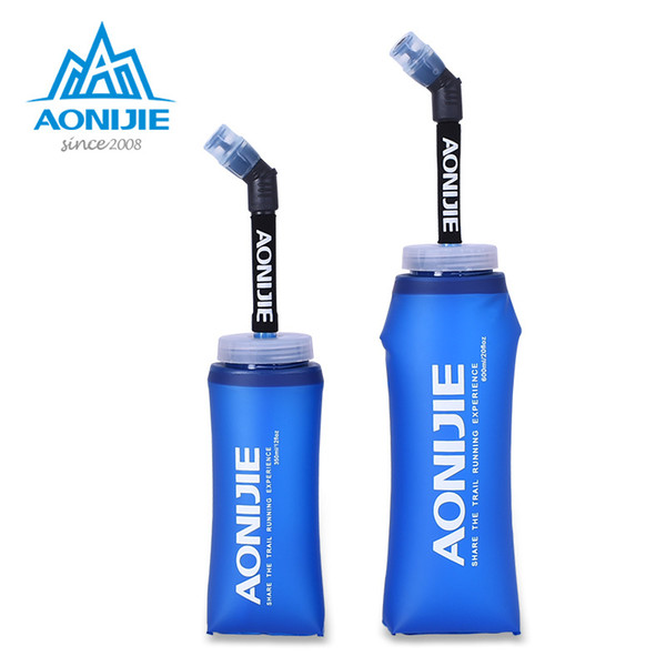 AONIJIE Camping and Hiking Water Bags for Sports Folding TPU Soft Flasks Bottles with Long Straws Bladders Outdoor Water Bags