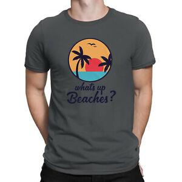 Brooklyn Nine Nine Whats Up Beaches Captain Holt Funny Vintage Men's T-Shirt