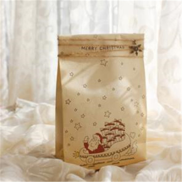 8 piezas de papel diferente Bolsa de regalo de papel kraft Fiesta Holiday Cookies Presente asas Bolsa de regalo Joyería de lujo Bolsas de embalaje