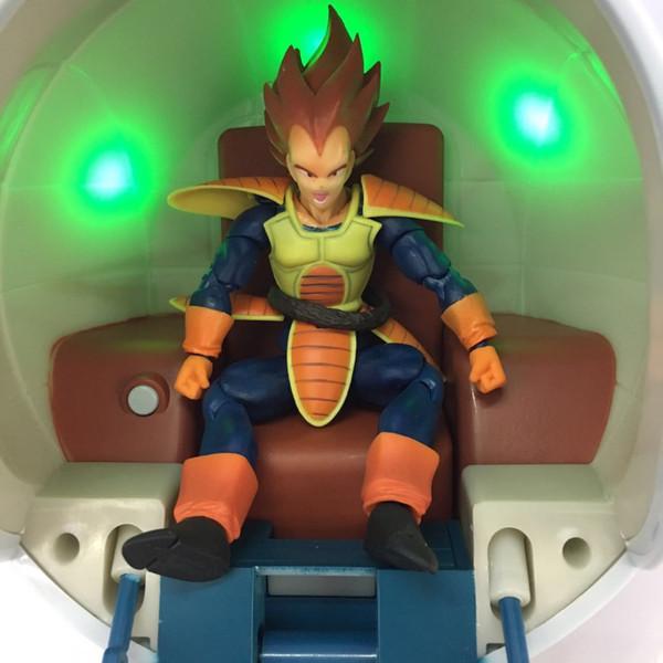 NOUVEAU hot ball 18cm Dragon ball Ne pas inclure la capsule Vegeta Super Saiyan vaisseau spatial capsule d'action lumineuse figure jouets poupée cadeau de Noël