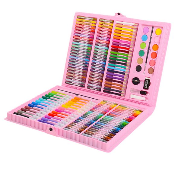 2019 Art Set Kids Brush Painting Set Watercolor Pen Crayons Artist Tool Kit Drawing Pen Box Gifts Art Supplies T8190617 From Linjun08 50 65