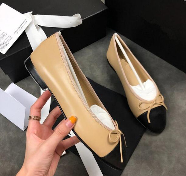 2019 chaussures de mocassins en cuir avec boucle Marque Mode Hommes Femmes une variété de pantoufles de style Ladies Casual Flats 34-42 xne18221