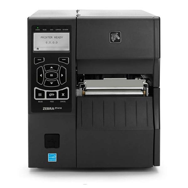 Oringinal Zebra ZT410 300 dpi stampante industriale avanzata macchina trasferimento nastro etichette stampante di codici a barre per etichette cucite con LCD ZM400 aggiornato