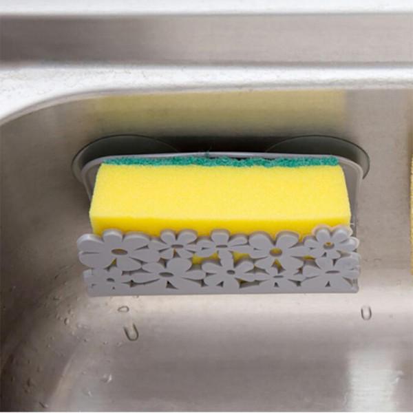 Kitchen Sponge Holder Brush Soap Dishwashing Liquid Drainer Kitchen  Bathroom Sundries Organizers Best Kitchen Gadgets For Healthy Cooking Best  Kitchen ...