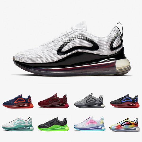 Acheter Nike Air Max White Volt 720 Mens Running Shoes Cosmic Aurora Wolf Grey Psychic Powder Multi Color Metallic Black Hyper Men Women Sports