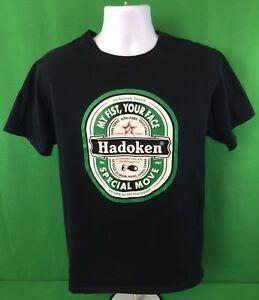 Футболка Street Fighter Hadoken с пародийной футболкой средней длины Sz M