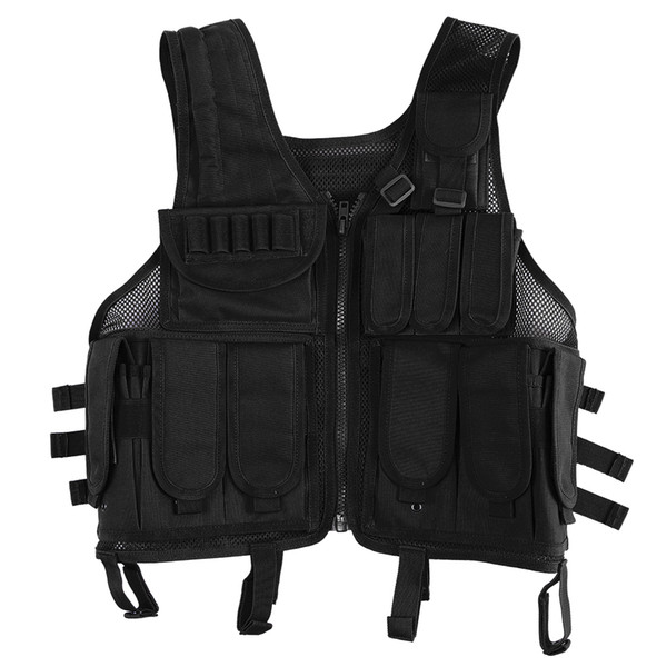 Lixada Outdoor Hunting Molle Vest Gear Load Carrier Vest Modular Chest Set Molle Chest Rig Adjustable Training CS Gaming