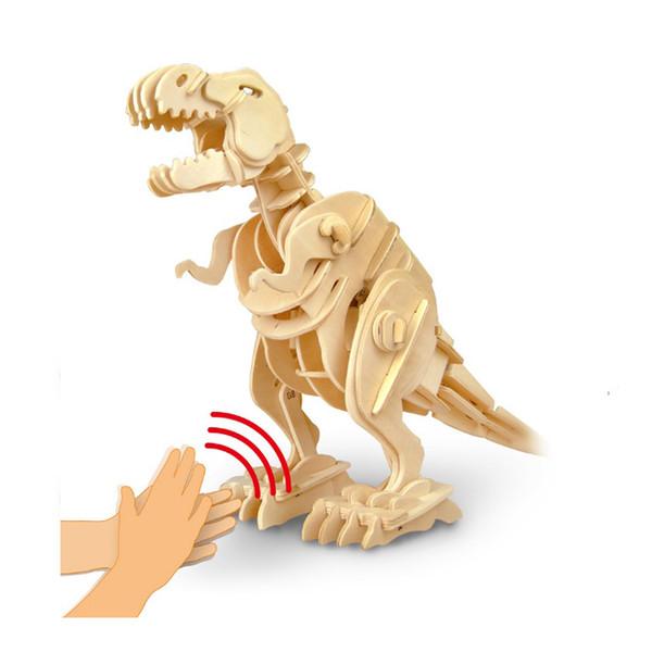 Классический Robotime 3D Игрушка-Динозавр Tyrannosaurus Rex детская Развивающая Игрушка-Головоломка DIY Заклинание Игрушки Трансграничные