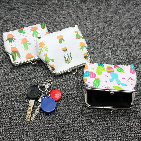 Cute lady mini bag cartoon fashion snacks coin purse cosmetics key storage bag girl purse hand carry woman wallet Billettea