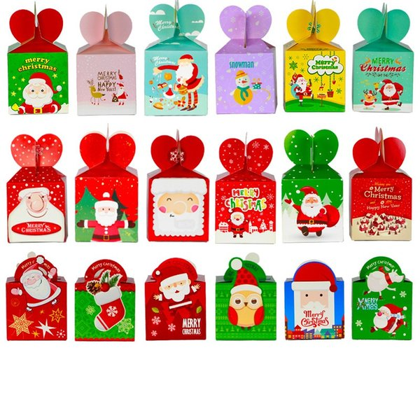 Natale Frutta Gift Box 9 centimetri di Apple Box Vigilia di Natale di Apple Packaging vende box della decorazione di Natale L359