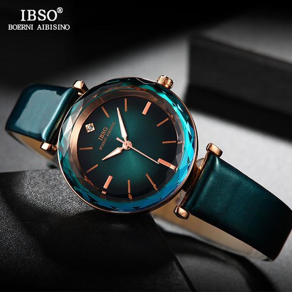 wholesale Brand Creative Diamond Cut Luxury Women Wrist Watches Leather Strap Fashion Ladies Quartz Watch Women Montre Femme 2019