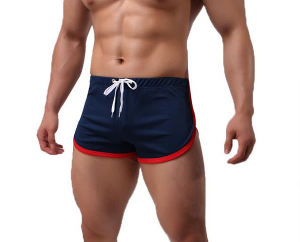 wholesale mens sexy polyester boxer shorts male arrow pants including inner pocket sports shorts store D574
