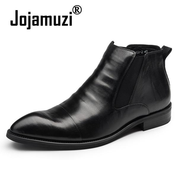 Homens de Couro Genuíno do vintage Ankle Boots de Luxo Britânico Dedo Apontado High Top Trabalho Casamento Homem Wingtip Oxfords Sapatos Botas de Moda