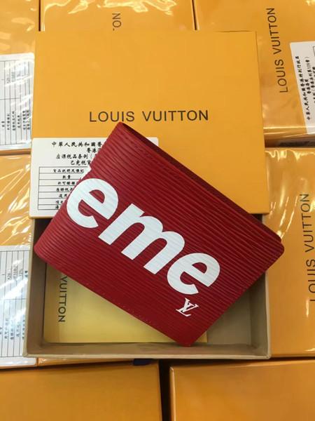 Lüks cüzdan Sıcak Deri Erkek Cüzdan Kısa cüzdan MT çanta kart sahibinin cüzdan High-end hediye kutusu paketi ücretsiz kargo