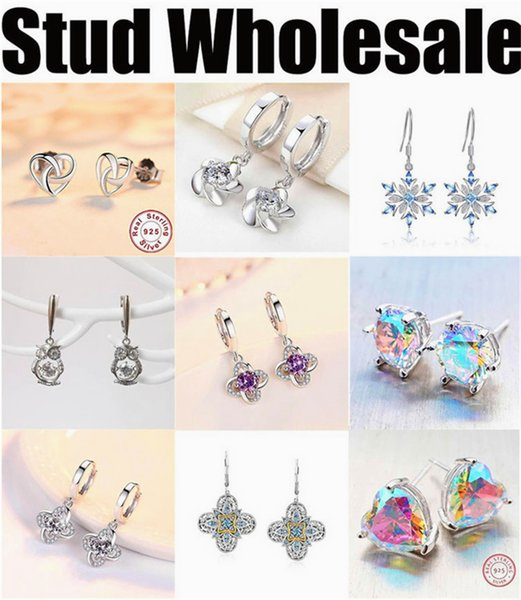 manufacturer wholesale earrings stub for women cheap high quality silver jewelry 2019 new free shipping designer colorful star