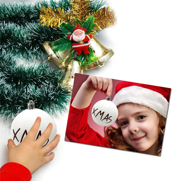 6 styles Christmas ball Baubles Home Party Supplies christmas Tree decorations Matte White Ball Xmas Tree Hanging Ornament Decor DHL JY440