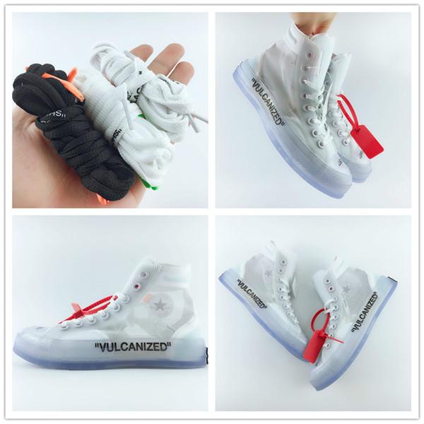 0c0200a9186 Com atacadores novos sapatos de grife 1970 s estrela chuck branco ice blue  x moda casual