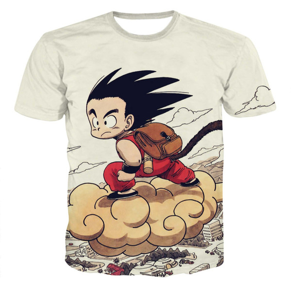 T-shirt Z Uomo Estate Moda 3D Stampa Super Saiyajin Son Goku Nero Zamasu Vegeta Dragon T-shirt Top