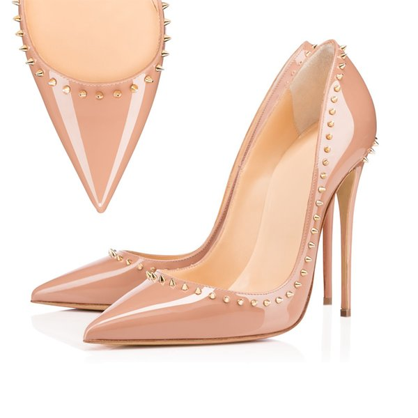 Pointed Toe Spikes Nude