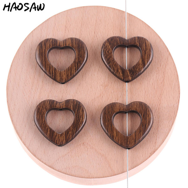 27*29MM 100Pcs/Lot Heart Hollow Shape Acrylic Imitation Wood Beads For DIY Handmade Earrings/Accessories Making/Jewelry Findings