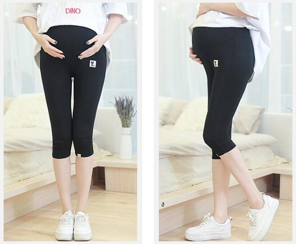 Pregnant wear summer maternity pants five shorts maternity supplies support abdominal leggings pregnant Bottoms women increase 200 jin