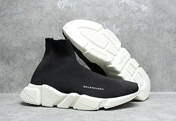 Nova Chegada de Luxo Meia Sapatos Casuais Speed Trainer de Alta Qualidade Designer de Tênis de Velocidade Trainer Corrida Preto homens mulheres Corredores calçados esportivos