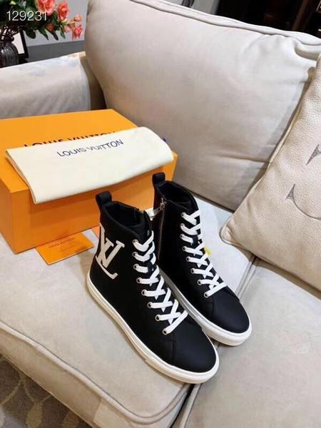 LL3 Fransız Lüks Tasarım Kadınlar '; S Sonbahar Ve Kış Günlük Ayakkabılar, Yüksek Kalite Tricolor Kadınlar'; S Boots Moda Baskılı Sneakers