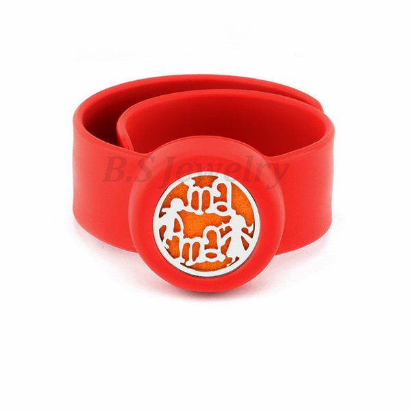 mom and kid Flexible Mosquito Repellent Charm Bracelet Bangles Essential Oil Diffuser Bracelets Women Perfume Silicone Wristband Kids