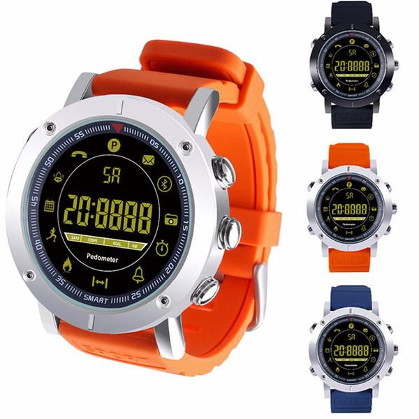 2018 EX19 reloj inteligente 5ATM nadar a prueba de agua Llamada por SMS Alerta podómetro cronómetro rastreador de fitness Reloj de pulsera inteligente para IOS Android iphone