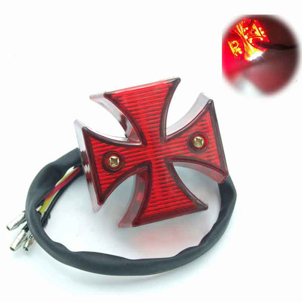 Universal Motorcycle Mini LED Cross Brake Lamp License Plate Light Motorbike Rear Tail Light For Dirt Bike Chopper