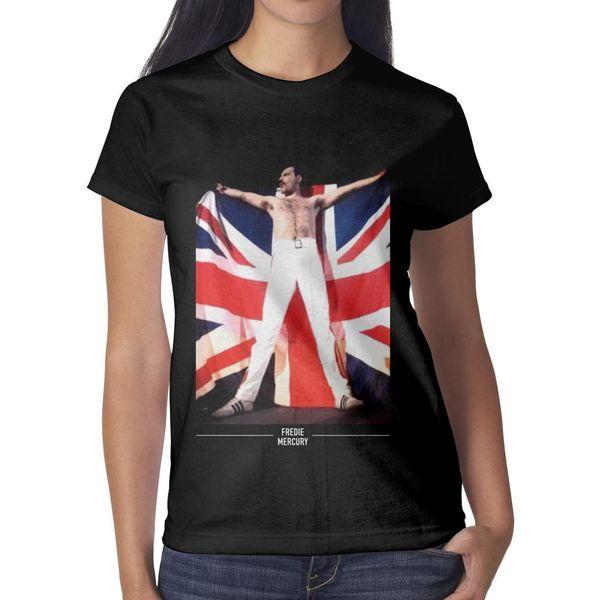 Queen UK Flag Pic Grey Womens T Shirt black Shirts Custom T Shirts Vintage Esign Christian Custom Made Shirt Black