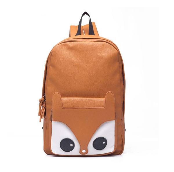 Hot Sell Fashion Fox Backpack Leather Backpack School Bag Bolso Bolsa Backpacks For School Girls Kanken