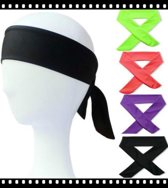 Yoga Headwrap Feste Krawatte Zurück Stirnbänder Stretch Schweißbänder Haarband Feuchtigkeitstransport Schals für Sport Laufen Joggen 100 stücke CNY766